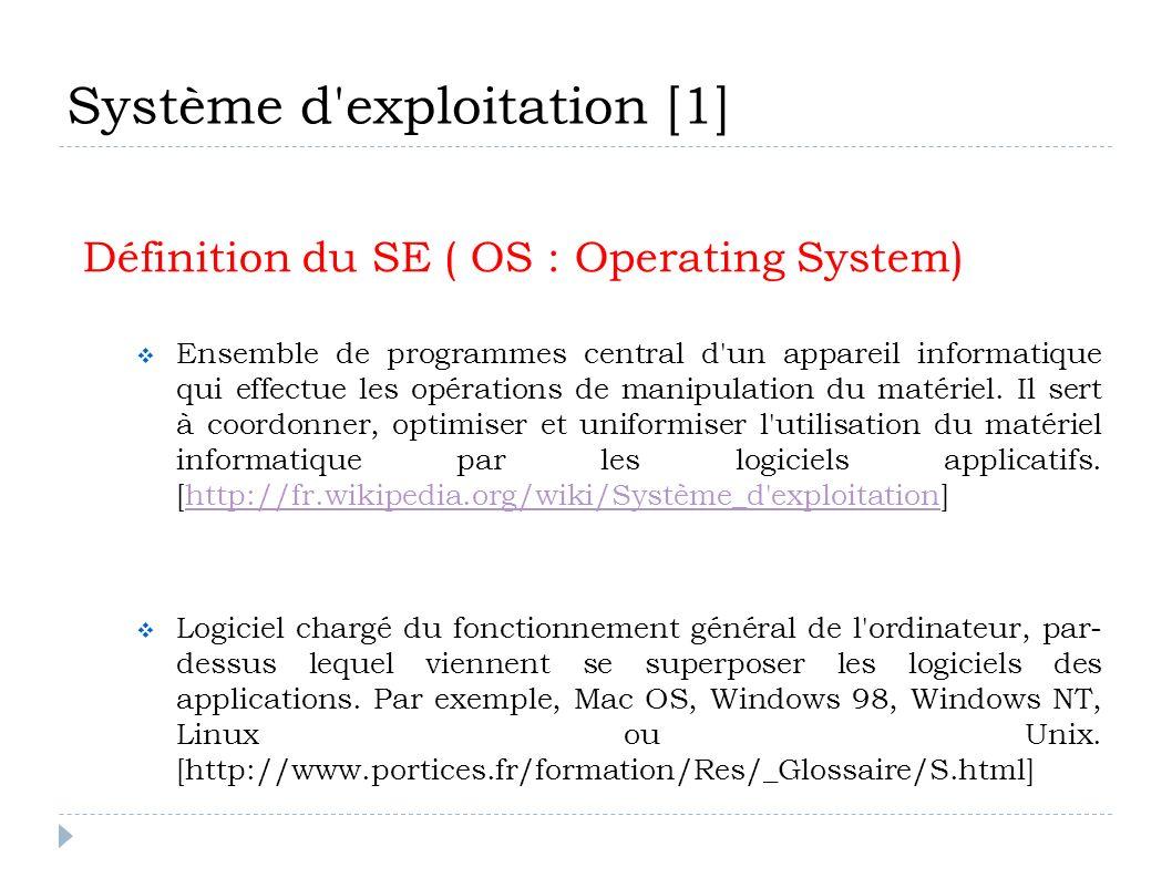 Système d exploitation [1]